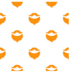 male beards and mustache seamless pattern vector image