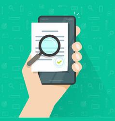 mobile online compliance digital document vector image