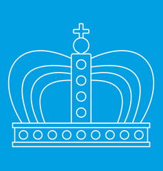 Monarchy crown icon outline style vector