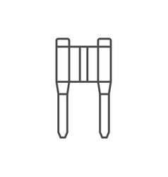 Motorcycle fork line outline icon vector
