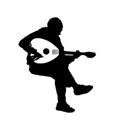 Musician playing the oud guitar musical instrument vector