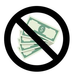 no bribery symbol vector image