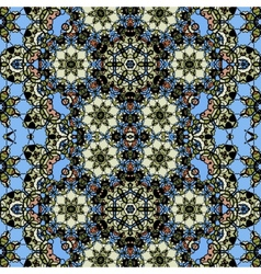 Ornamental ornate tribal style seamless wallpaper vector