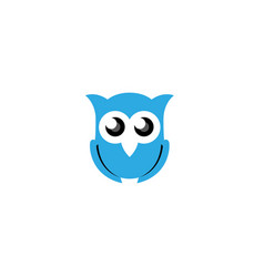 owl open eyes logo design vector image