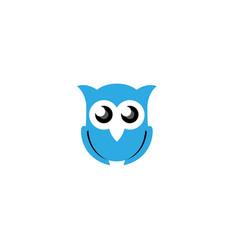 owl open eyes logo vector image