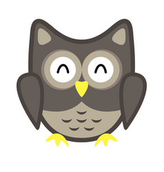 owl stylized icon nature colors vector image