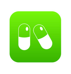pills icon digital green vector image