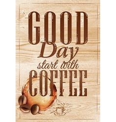 Poster Grain coffee 1 vector image