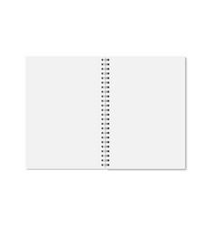 realistic opened notebook vector image
