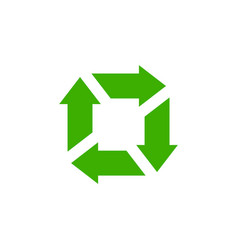 Recycle icon garbage sorting symbol waste vector