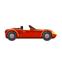 Red cabriolet car luxury sport business vector