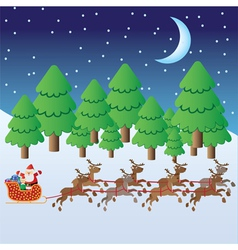 santa claus with christmas elf vector image