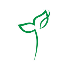 seedling symbol icon on white vector image