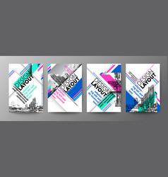 set diagonal grid typography design layout vector image