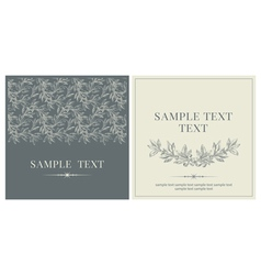 Set of invitations vector