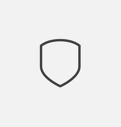shield icon logo template protect logo vector image