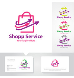 shop service logo designs vector image