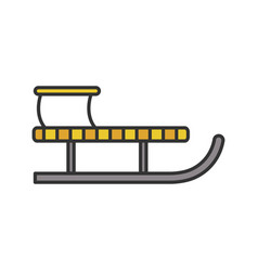 sled color icon vector image