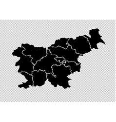 slovenia map - high detailed black map with vector image