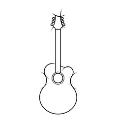 slylized of acoustic guitar vector image