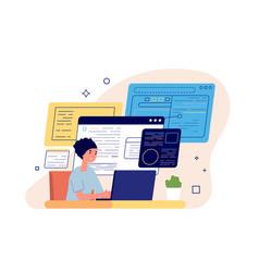 Smm manager social media marketing freelance vector