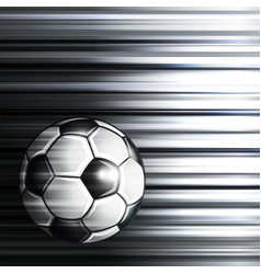 soccer ball on abstract background vector image