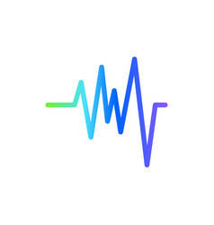 sound wave graphic design template isolated vector image