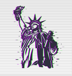 statue liberty vector image