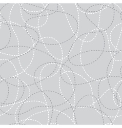 Stitched curves grey seamless pattern vector image