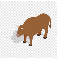 Switzerland cow isometric icon vector