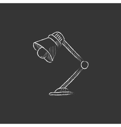 Table lamp Drawn in chalk icon vector