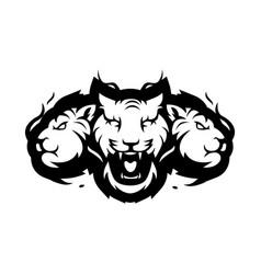 Tiger mascot logo vector