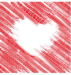 tire heart wallpaper vector image