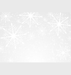 white snow and snowflakes abstract christmas vector image