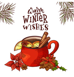 winter or autumn drink for your design vector image