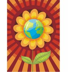 world flower vector image