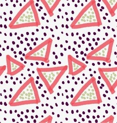 Abstract red triangle with dots vector image vector image