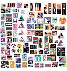 Contemprary art icons vector