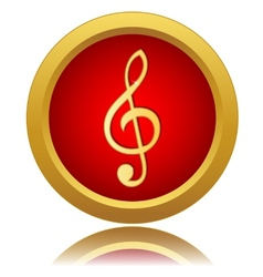 Music note sign icon vector
