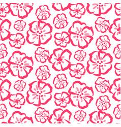 rose sketch simple flower pattern vector image