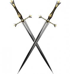 two crossbones sword vector image vector image