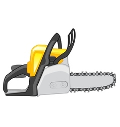 Chainsaw on white background vector image
