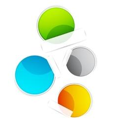 color labels vector image