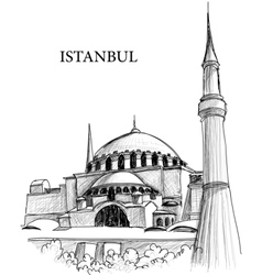 istanbul st sophia cathedral vector image vector image