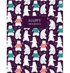 Polar bear card vector