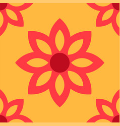 simple flower pattern background vector image vector image