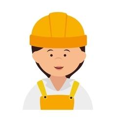builder construction worker women smile vector image