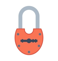 Lock icon on white vector image