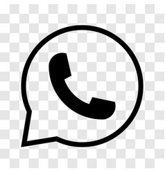 phone in speech bubble icon - iconic design vector image vector image