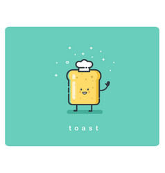 bread toast funny character vector image vector image
